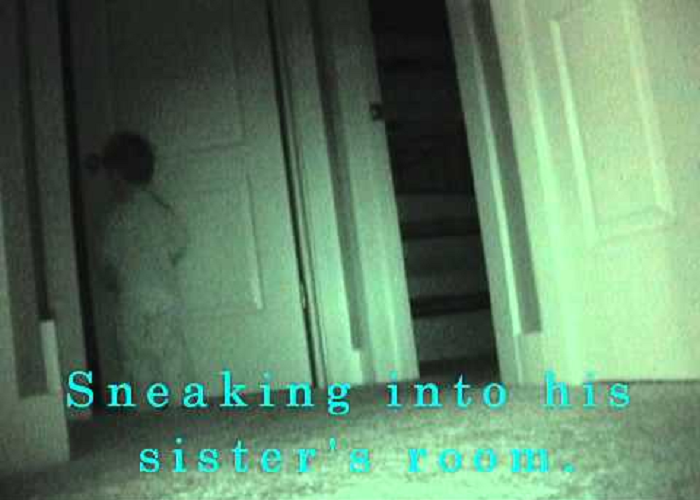 Watch How This 2-Year-Old Boy Sneaks Into His Sister's Room