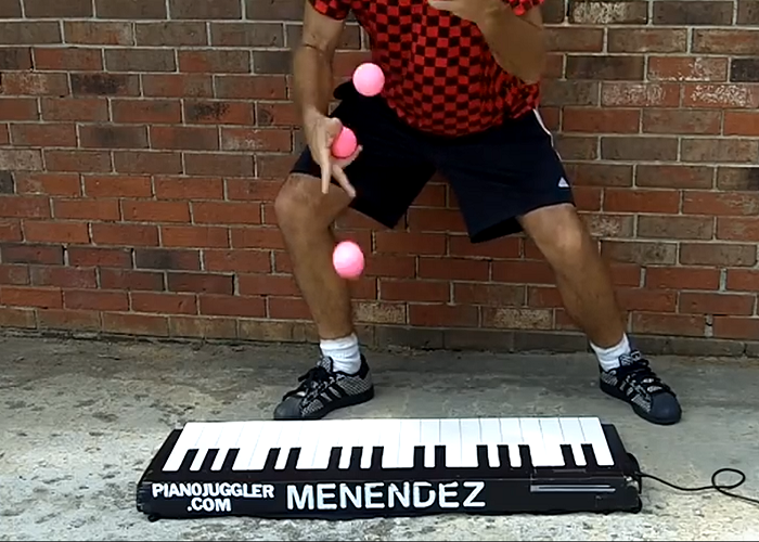Is He The Worlds Fastest Piano Juggler?