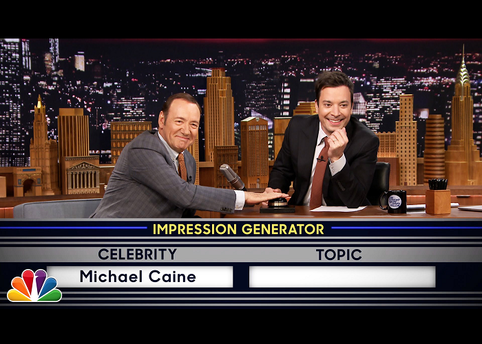 See Kevin Spacey Doing Celebrity Impersonations