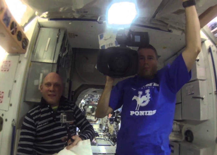 Watch Astronauts Grow A Water Bubble In Space