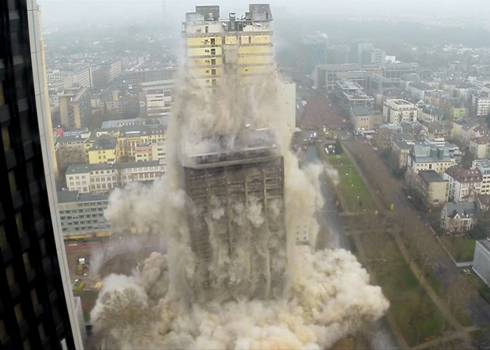 Watch A Building Demolition Caught On GoPro