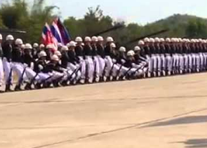 Watch The Royal Thai Navy Domino Style Parade