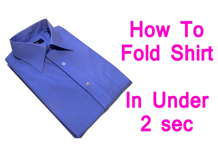 How To Fold A Shirt Very Quickly