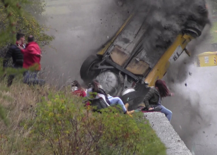 This Is An Unbelievable Crash At Jolly Rally Valle d'Aosta - 2014