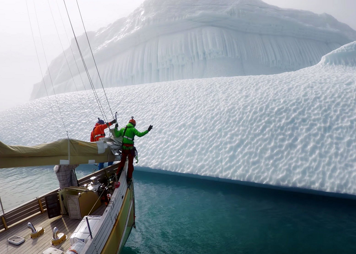 These Professional Ice Climbers Conquer An Iceberg In Greenland