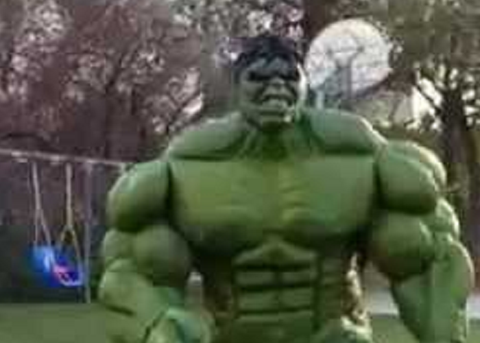 Watch The Hulk Costume Latex Painted