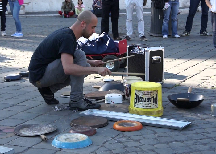 This Guy Is An Incredible Street Drummer In Rome
