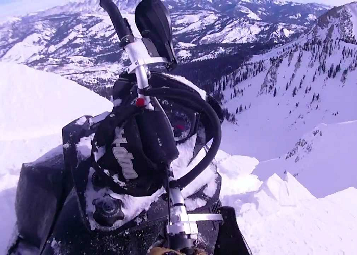 This Lucky Guy Almost Falls Off A Snowy Cliff