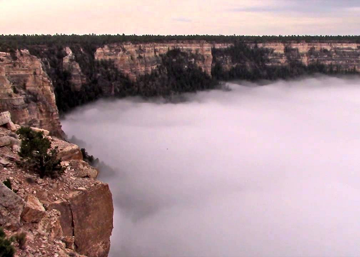See This Total Cloud Inversion Filling Grand Canyon
