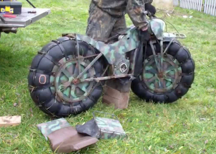 "Look At This Unique Russian ""All Terrain"" Motorbike"