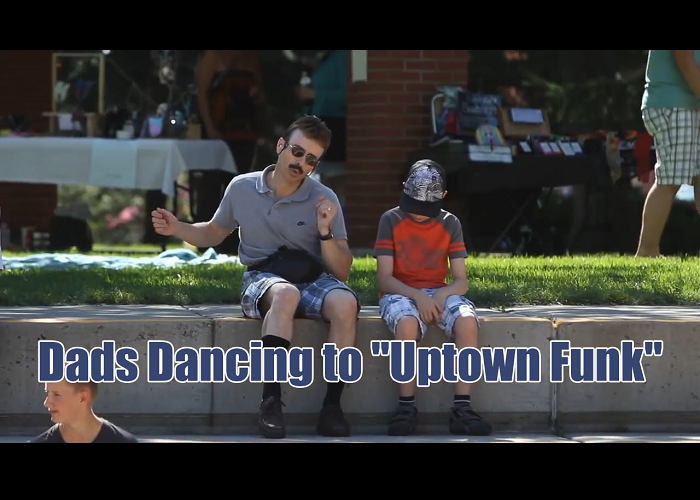 "Look At These Dads Dancing To ""Uptown Funk"""