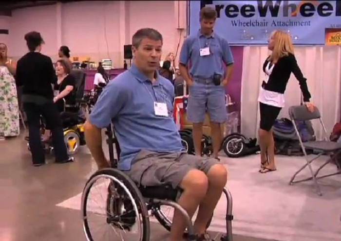Check Out FreeWheel, A Great Wheelchair Attachment