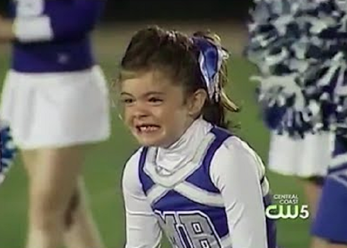 The Dad Surprises His 7-Year-Old Daughter At A Local High School Football Game