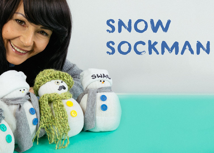 This Is How To Turn An Old Sock Into A Funny Little Snowman