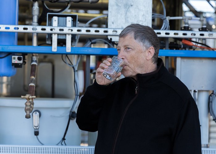 See Bill Gates As He Drinks Water Made From Human Waste