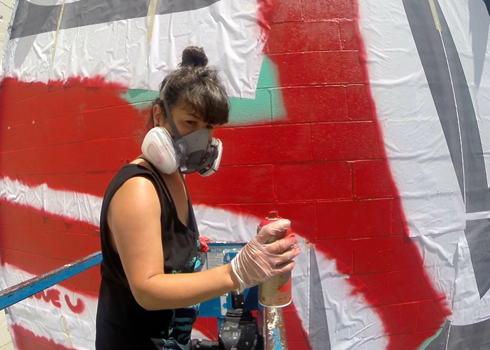 Watch This Graffiti Street Artist As She Creates An Awesome Mural Project