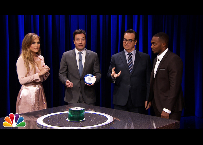 Watch Jennifer Lopez And Anthony Mackie Playing Catchphrase