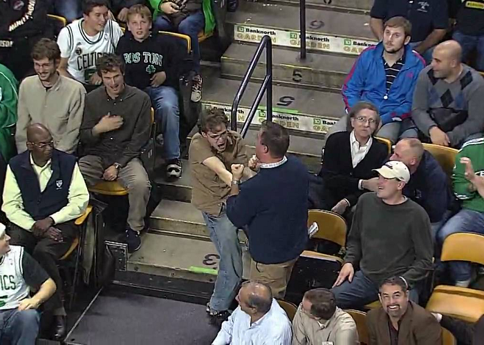 "Look At This Celtics Fan Dancing To Bon Jovi's ""Livin' On A Prayer"""