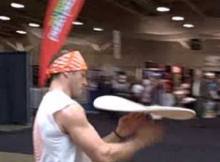 Look At This Guy As The World's Greatest Pizza Dough Twirler