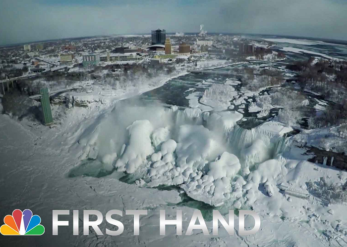 Watch The Amazing Drone Video Above The Frozen Niagara Falls