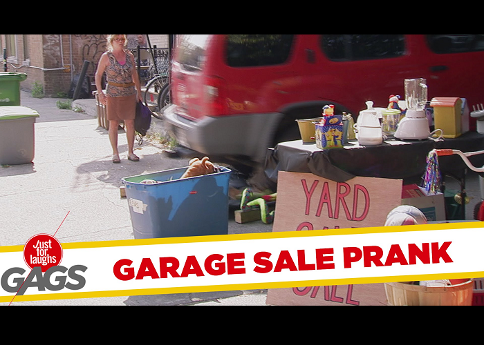 Watch The Huge Car Destroy Garage Sale Prank