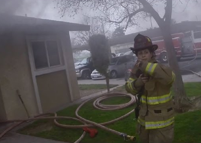 Watch Firefighters Rescuing Three Children From A Burning Apartment