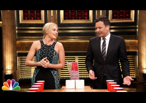 Watch Jimmy Fallon And Margot Robbie Facing Off A Flip Cup Battle