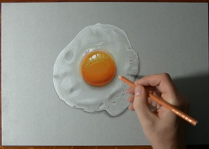 See How To Draw A Perfectly Fried Egg
